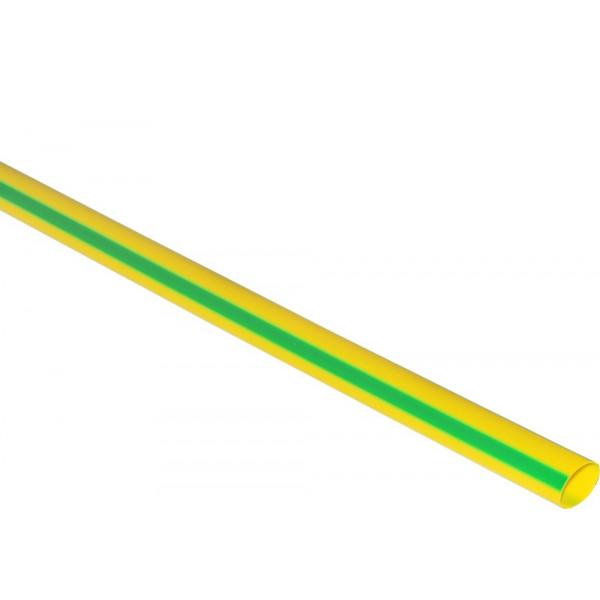 Термоусаживаемая трубка 10/5, 1 м, жёлто-зелёная (SBE-HST-10-yg)