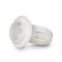 Патрон SmartBuy Е14 пластиковый с кольцом, термостойкий пластик, белый (SBE-LHP-sr-E14)
