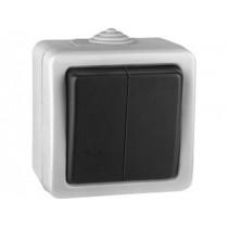 Выключатель Volsten V01-43-V21-S (2-кл. 250В, 10A, IP54), серый