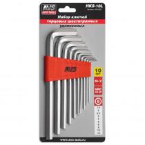 Набор ключей AVS HKS-10L торцевые, шестигранные, удлиненные, 10 предметов (1,5-12мм)