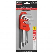 Набор ключей AVS HKS-9L торцевые, шестигранные, удлиненные, 9 предметов (1,5-10мм)