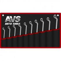 Набор ключей AVS K2N10M гаечные, накидные, изогнутые, 10 предметов, (6-27 мм), сумка