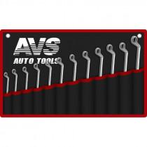 Набор ключей AVS K2N12M гаечные, накидные, изогнутые, 12 предметов, (6-32 мм), сумка