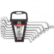 Набор ключей AVS K2N8P гаечные, накидные, изогнутые, 8 предметов, (6-22 мм), на держателе