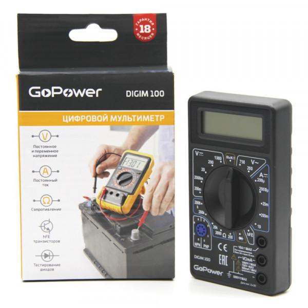 Мультиметр GoPower DigiM 100