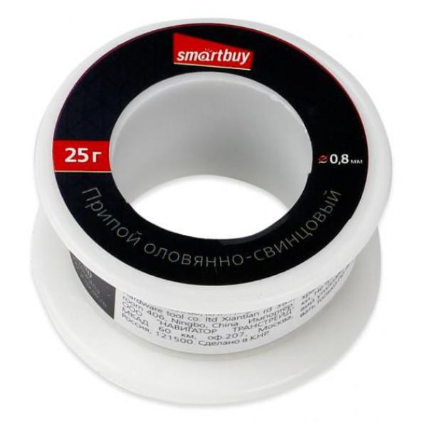 Припой ПОС-25 (оловянно-свинцовый 60/40), катушка 25 г, Smartbuy tools