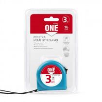 Рулетка измерительная, 3мх16мм, пластиковый корпус, фиксатор, усиленный зацеп, Smartbuy One Tools