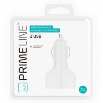 АЗУ 2-USB 2.1А, белый, Prime Line