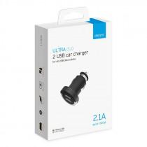 АЗУ 2-USB 2.1А, Ultra, чёрный, Deppa