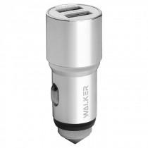 АЗУ 2-USB 2A, WCR-21, серебристый, WALKER