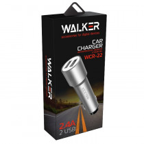 АЗУ 2-USB 2.4A, WCR-22, чёрный, WALKER