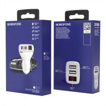 АЗУ 2-USB 2.1A с дисплеем, BZ11, белый, Borofone