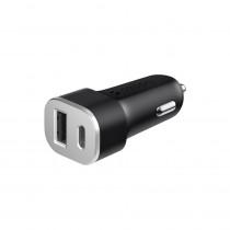 АЗУ 1-USB QC 3.0A + USB Type-C PD, Deppa, Ultra, чёрный
