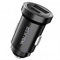 АЗУ 1-USB + Type-C PD, 3A, QC 3.0, Walker WCR-25, чёрный