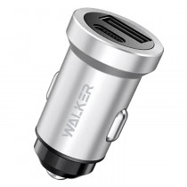 АЗУ 1-USB + Type-C PD, 3A, QC 3.0, Walker WCR-25, серебристый