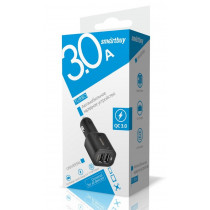 АЗУ 2-USB 3А, QC 3.0 SmartBuy TURBO SBP-2031, чёрный