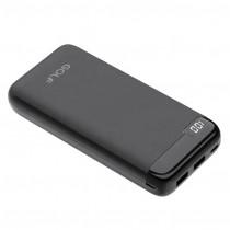 Внешний АКБ 20000 мАч GOLF LCD22, 2 USB, 2.1A, micro-USB, Type-C, дисплей, чёрный