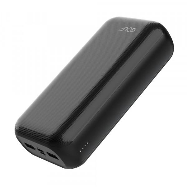 Внешний АКБ 30000 мАч GOLF G55-C, 2 USB, 2.1A, micro-USB, Type-C, чёрный