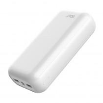 Внешний АКБ 30000 мАч GOLF G55, 2 USB, 2.1A, micro-USB, Type-C, белый