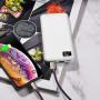 Внешний АКБ 10000 мАч Borofone BT22, 2 USB, 2A, дисплей, белый