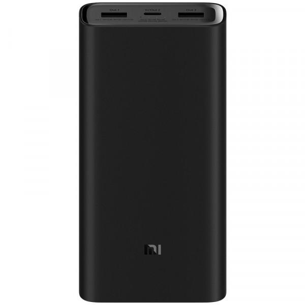 Внешний АКБ 20000 мАч Xiaomi Mi Power 3 Pro, 2 USB, 5.4A, QC 3.0, Type-C, с индикацией, (VXN4245CN), чёрный