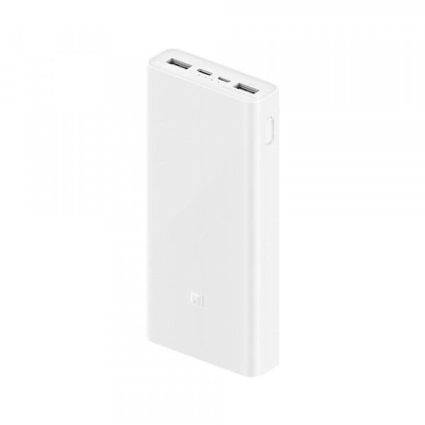 Внешний АКБ 20000 мАч Xiaomi Mi Power 3, 2 USB, Li-Pol, QC 3.0, Type-C, с индикацией, (VXN4258CN)