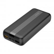 Внешний АКБ 20000 мАч GOLF G93, 2 USB, 3A, PD + QC 3.0, micro-USB, Type-C, с индикацией, чёрный