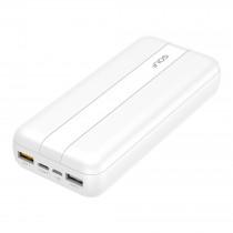 Внешний АКБ 20000 мАч GOLF G93, 2 USB, 3A, PD + QC 3.0, micro-USB, Type-C, с индикацией, белый
