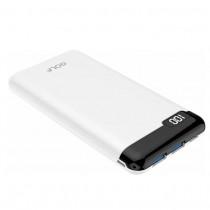 Внешний АКБ 10000 мАч GOLF LCD21, 2 USB, 2.1A, micro-USB, Type-C, дисплей, белый