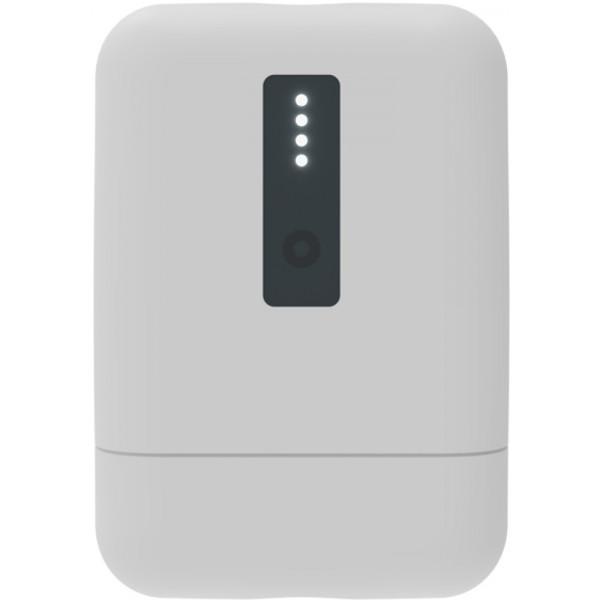Внешний АКБ 10000 мАч Ritmix RPB-10010, USB 5В 2.1А, Type-C, Li-Pol, индикатор заряда, белый