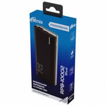 Внешний АКБ 10000 мАч Ritmix RPB-10002, USB 5В 2.1А, Type-C, Li-Pol, чёрный