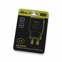 СЗУ 2-USB 2.0A, RM-2025АC, чёрный, Ritmix