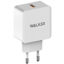 СЗУ 1-USB, 2.4А, QC 3.0, WH-25, белый, WALKER