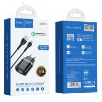 СЗУ micro-USB кабель, 3А, QC 3.0, C12Q, чёрный, Hoco