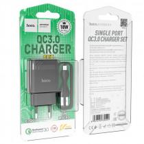 СЗУ micro-USB кабель, 3A, QC 3.0, C72Q, чёрный, Hoco