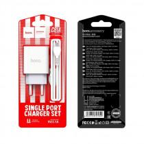 СЗУ micro-USB кабель, 2.1A, C81A, белый, Hoco