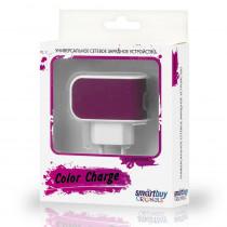 СЗУ 1-USB 2А, SmartBuy Color Charge SBP-8030, бело-фиолетовый