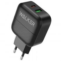 СЗУ 1-USB + Type-C PD, QC 3.0, Walker WH-37, чёрный