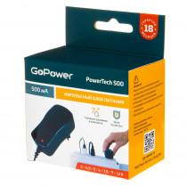 Блок питания GoPowerTech 500mAh, 3-12V, стабилизированный, импульсивный, 7 штекеров, 1,8 м