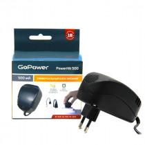 Блок питания (СЗУ) GoPowerHit 500mAh, 3-12V, универсальный, нестабилизированный, 8 штекеров, 1,8 м